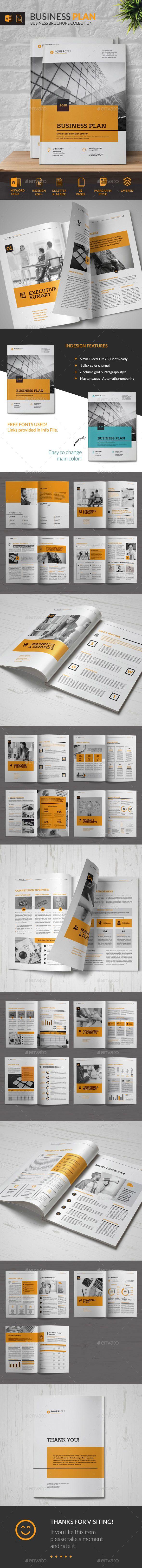 Business Plan Brochure Template InDesign INDD