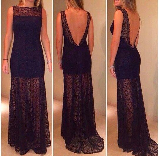 bceefaa7d Vestido largo negro