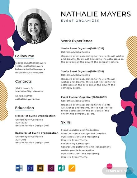 Free Sample Resume - Creative resume templates, Creative resume, Sample resume templates, Resume templates, Downloadable resume template, Resume template - Instantly Download Free Sample Resume Template, Sample & Example in Microsoft Word (DOC), Adobe Photoshop (PSD), Adobe InDesign (INDD & IDML), Apple Pages, Microsoft Publisher, Adobe Illustrator (AI) Format  Available in (US) 8 5x11 inches + Bleed  Quickly Customize  Easily Editable & Printable