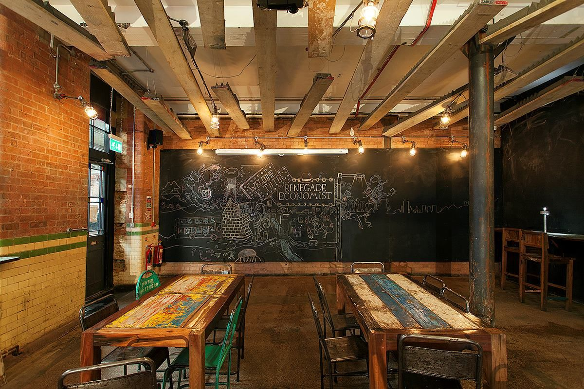 Floating planks and wall-length chalkboards: https ...