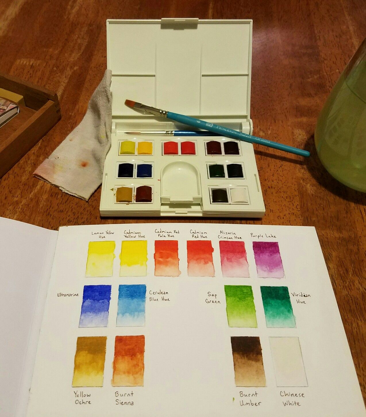 Color Swatches Color Mixing Chart Watercolor Art Winsor