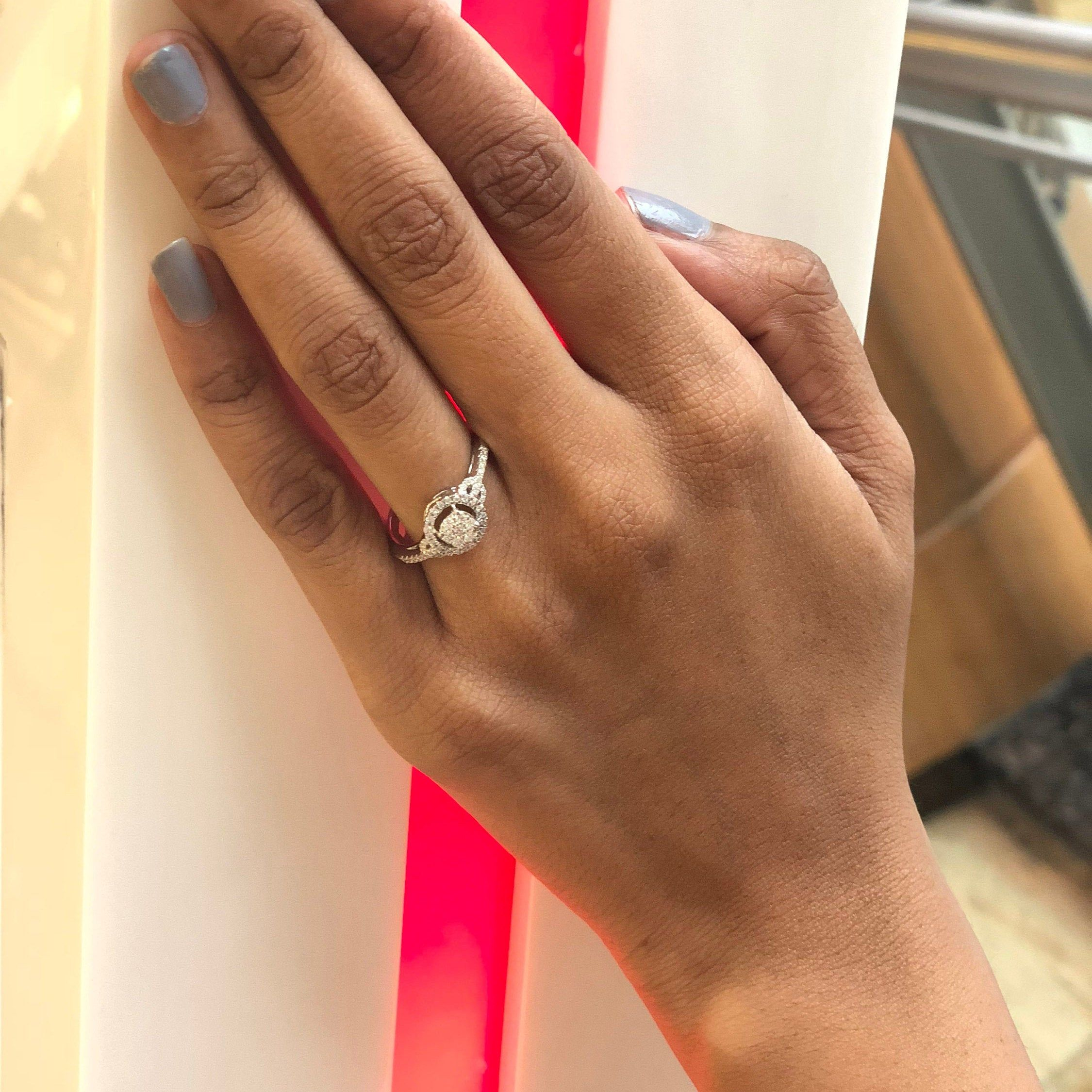 100 Pure Diamond Ring 1 4 Ct Natural Diamond Ring For Women I1 Clarity 10k White Gold Cluster Diamond Jewelry Gifts For Women Gh Color Diamond Pure Products Diamond Jewelry