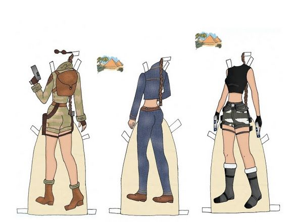 Angelina Jolie paper doll clothes / paper--dolls.com 02