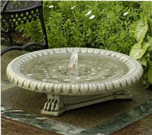 Different Types of Water Features for Garden Fountains Birdbath