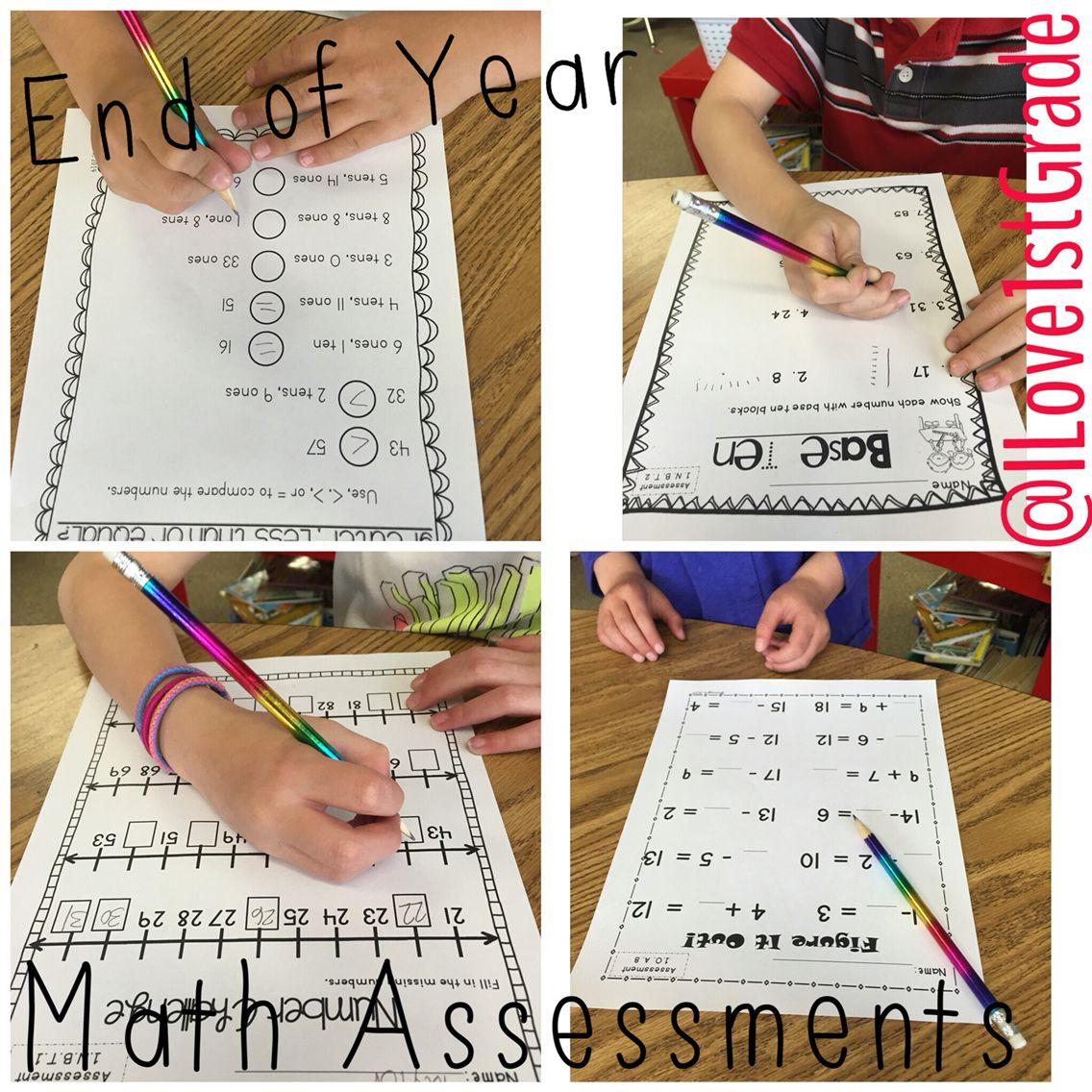 Common Core Math Assessments 1st Grade