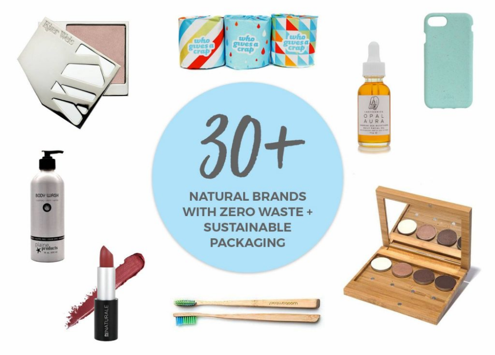 40+ Natural Brands with Zero Waste or Sustainable