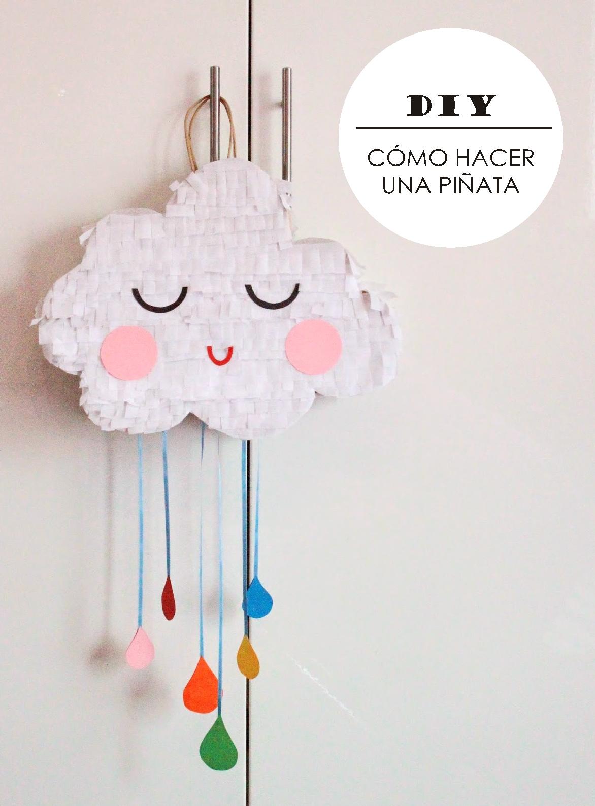 DIY  Cómo hacer una piñata (con una bolsa de papel) (... y un poco ... 4f37d7c45e5