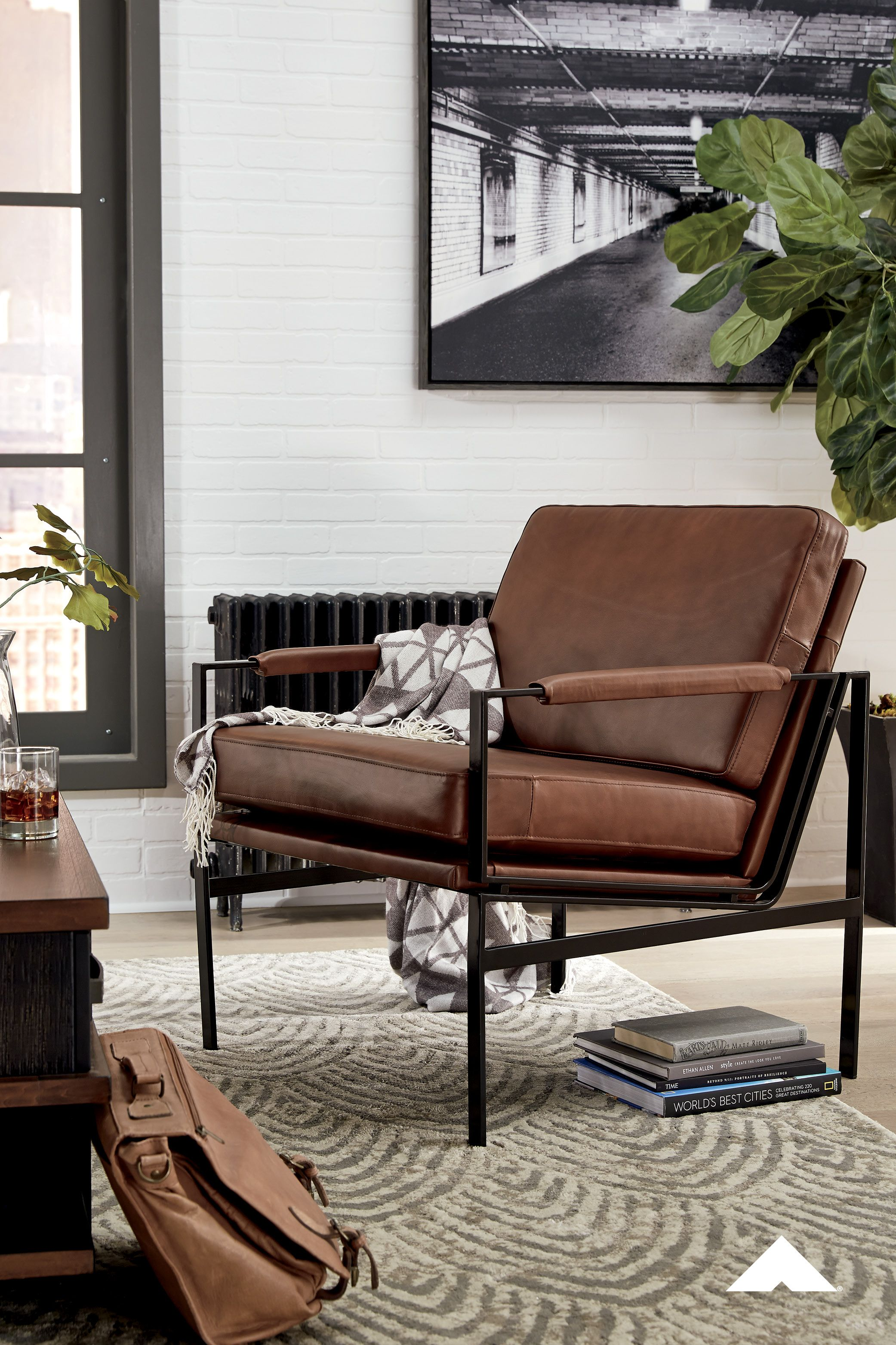 Puckman Brown Silver Finish Accent Chair By Ashley Furniture With Its Ultra Modern Vibe And Ultra Indu In 2020 Ashley Furniture Industries Ashley Furniture Furniture
