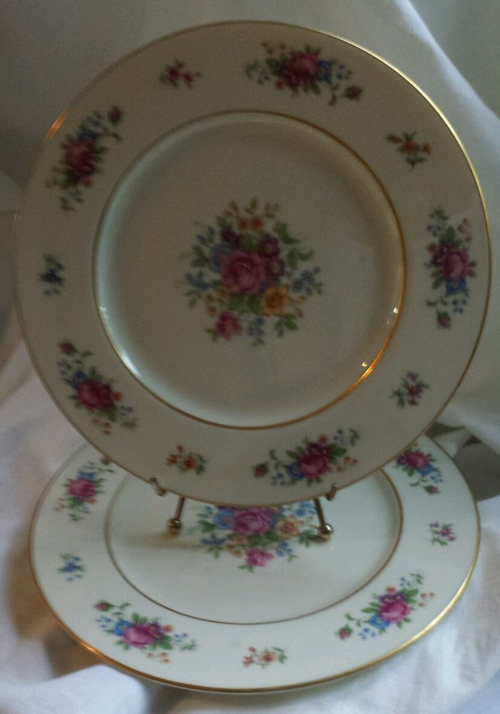 2 Vintage Lenox Rose Dinner Plates J 300 Made In Usa Discontinued & Where Are Lenox Dishes Made | Home design ideas