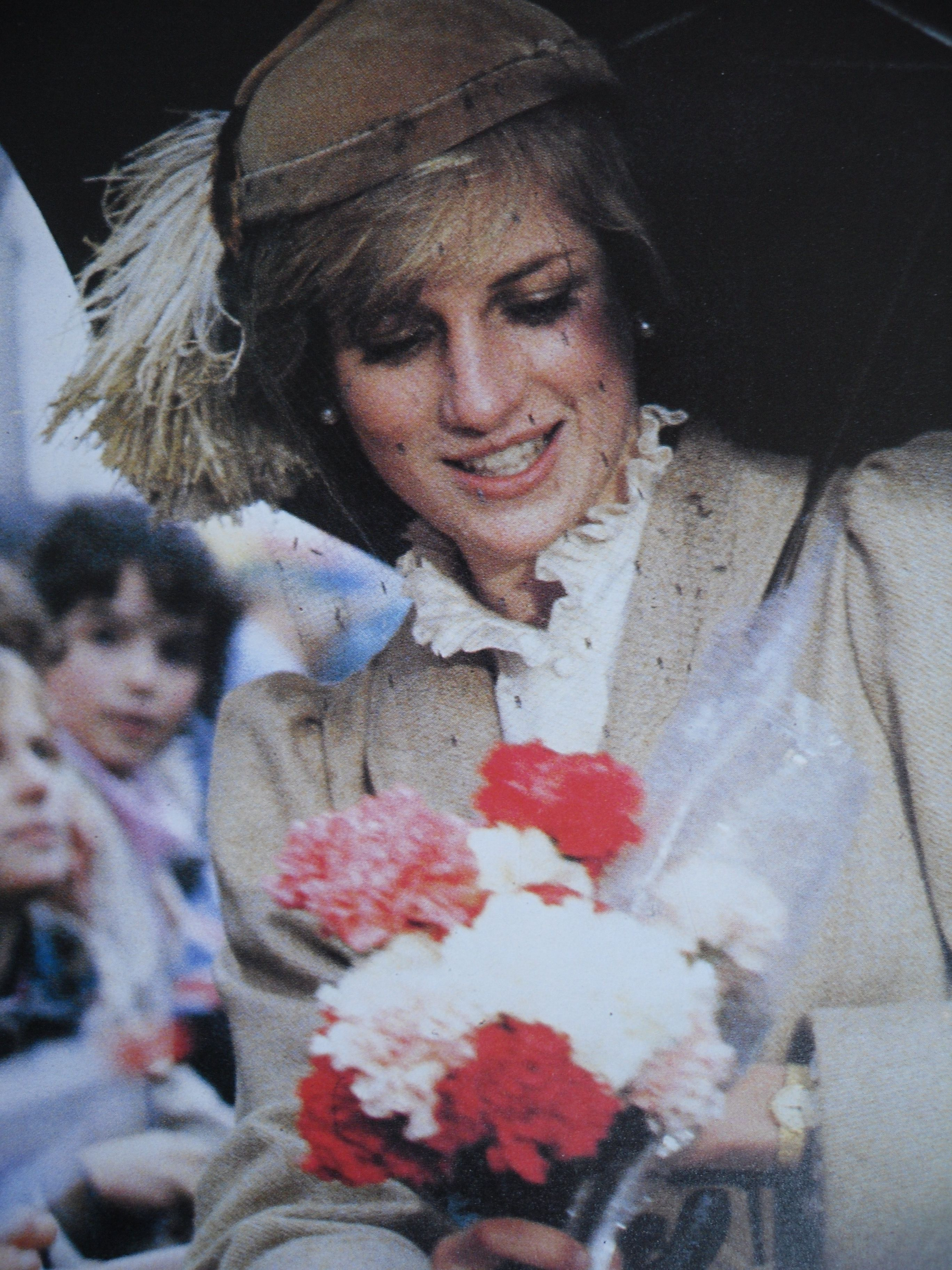 October 28, 1981: Princess Diana attend a service at St. David's Cathedral in Haverfordwest county of Pembrokeshire, Wales.
