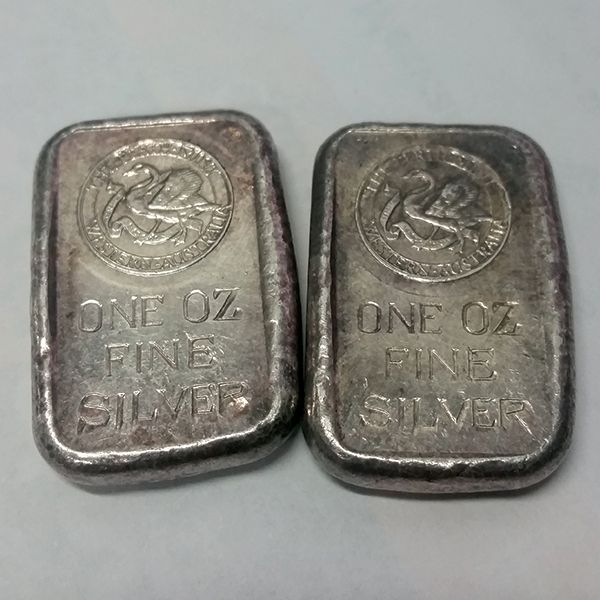 Rare Old Perth Mint 1oz Silver Bullion Cast Bars Show Me