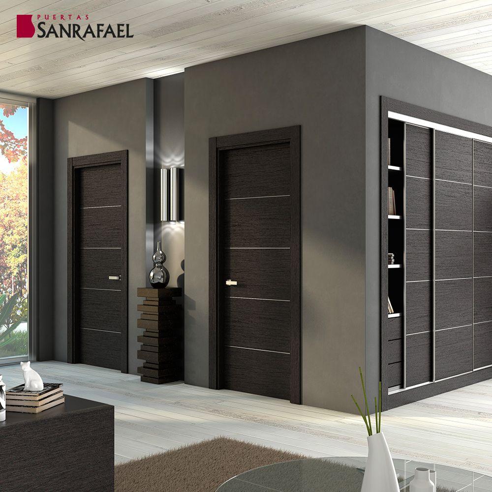 Serie contempor nea modelo al8005 en 2019 colecci n for Modelos de puertas de madera interiores