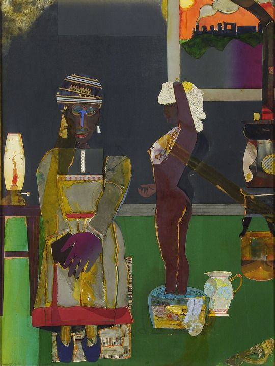 Romare Bearden (American, 1911-1988), Prelude to Farewell, 1981. Collage, 49 x 37 ¼ in.