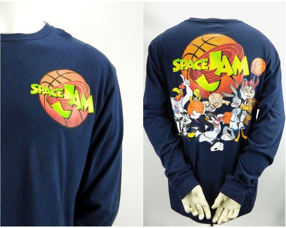 dfc354fa Mens XL Space Jam Looney Tunes Vintage Long Sleeve T Shirt Original Tune  Squad #LooneyTunes #GraphicTee