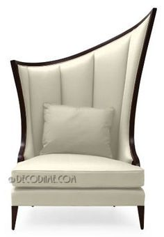 Belle 201 Poque Asymmetrical High Back Occasional Chairs