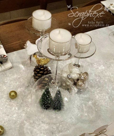 scraphexe weihnachtliche deko mit umgedrehten gl sern schnell und passt immer. Black Bedroom Furniture Sets. Home Design Ideas