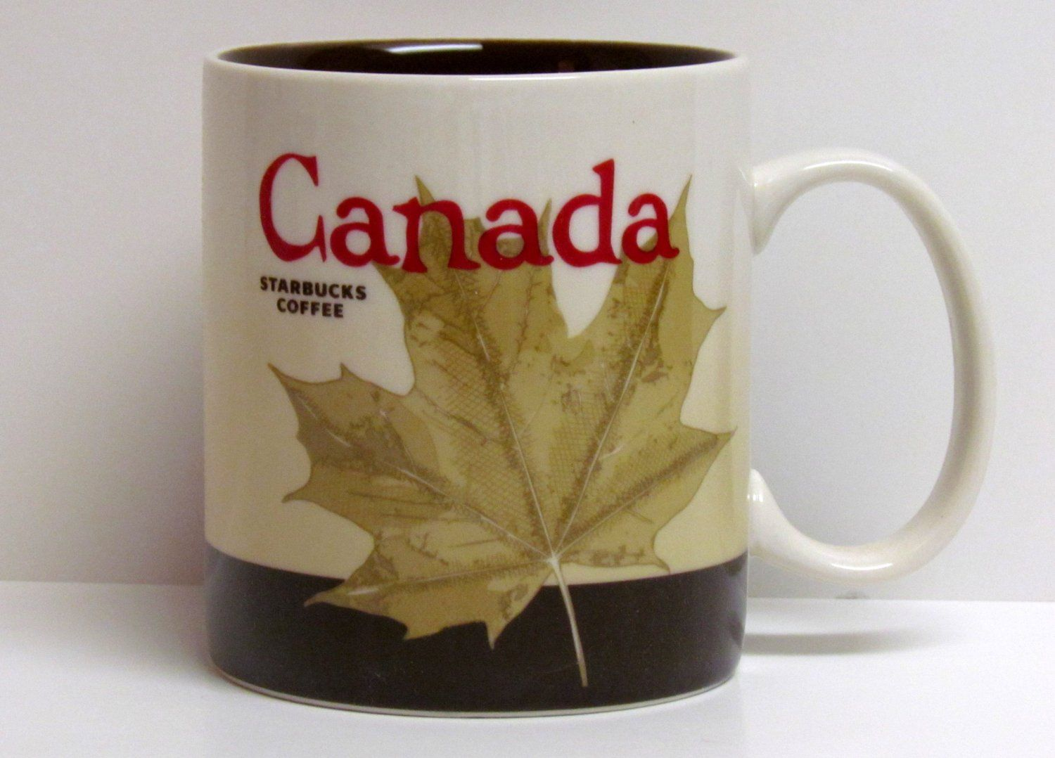 Starbucks Canada Mug. The Maple Leaf motif (With images