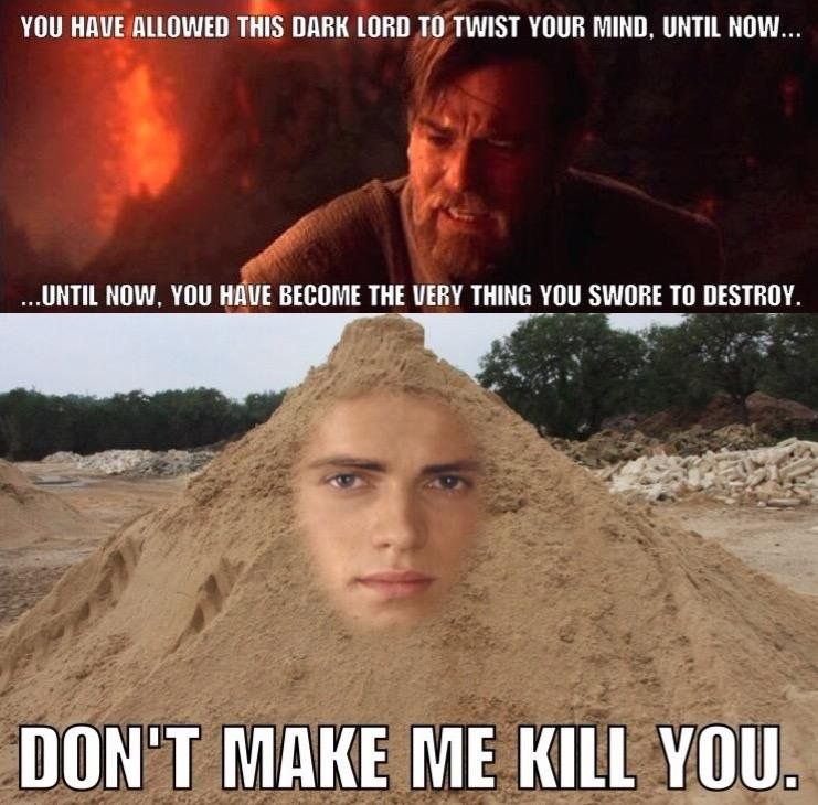 Pin By A R On Funnies Funny Star Wars Memes Star Wars Humor Star Wars Memes