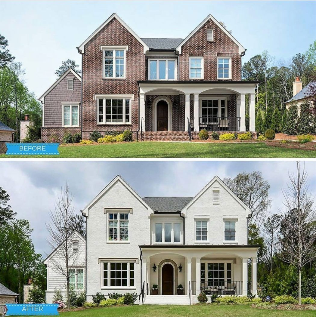 101 Should We Paint Our Brick House White Young House Love Brick Exterior House Painted Brick House Home Exterior Makeover