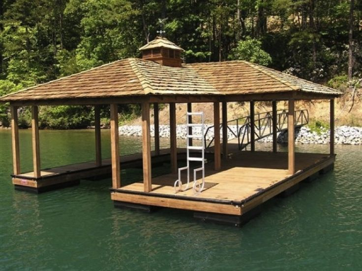 boat house and dock we built on a lake in central virginia | Pond ...