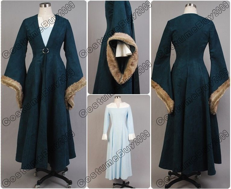 Game Of Thrones Cosplay Cats Aunt Catelyn Tully Stark Costume Trench Coat Dress