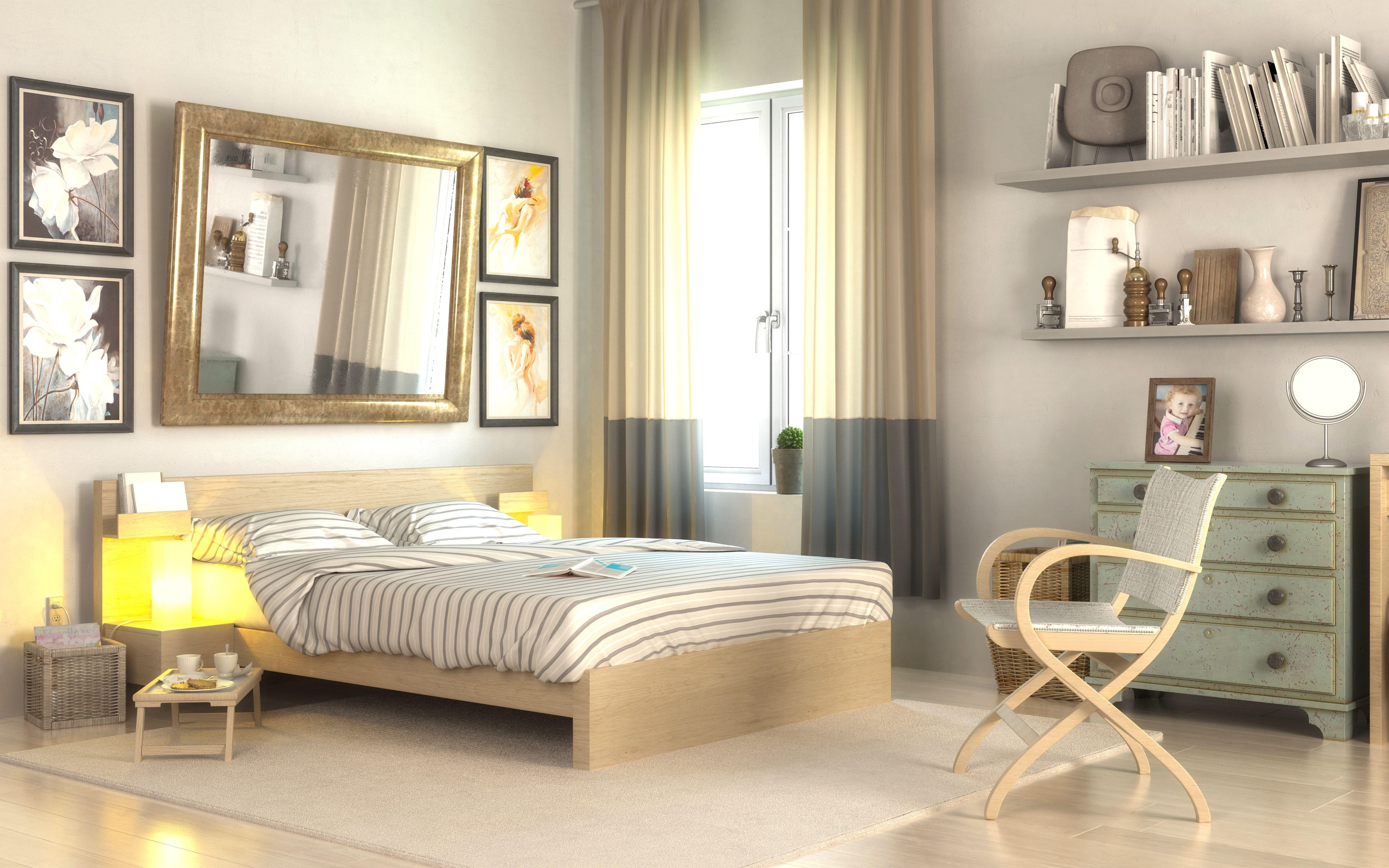 kleines schlafzimmer gemütlich gestalten Small bedroom
