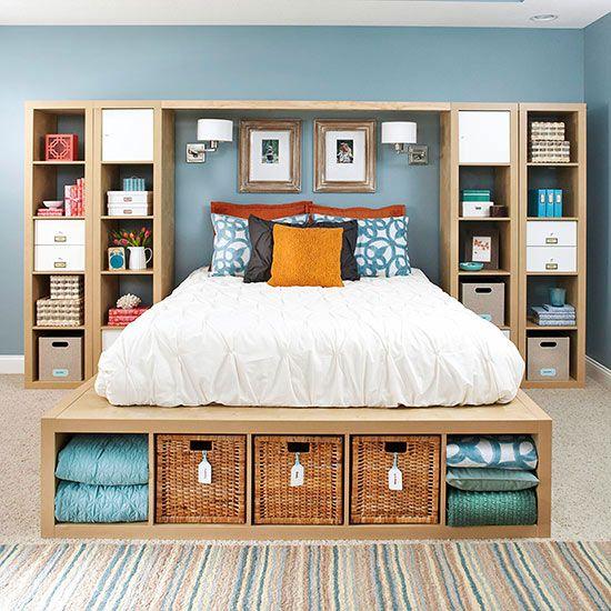 Copy This Bedroom S 25 Creative Storage Ideas Home Bedroom Home Decor Bedroom Diy