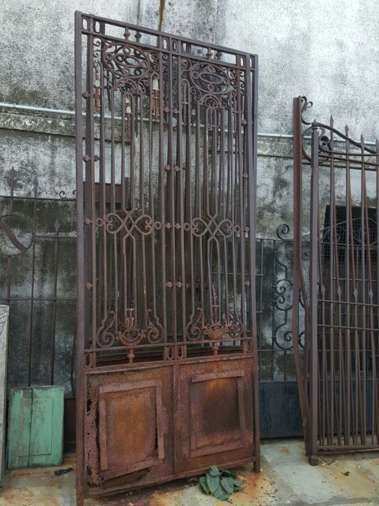 Reclaimed Antique Wrought Iron Gate With Images Wrought Iron