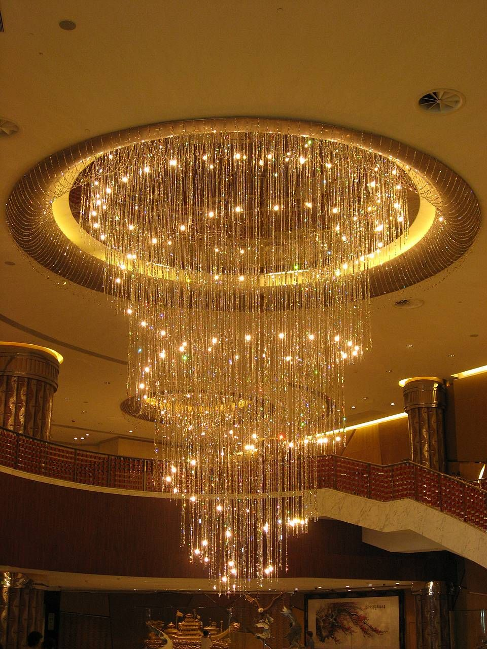 Chandelier crystal lights cascade chandelier