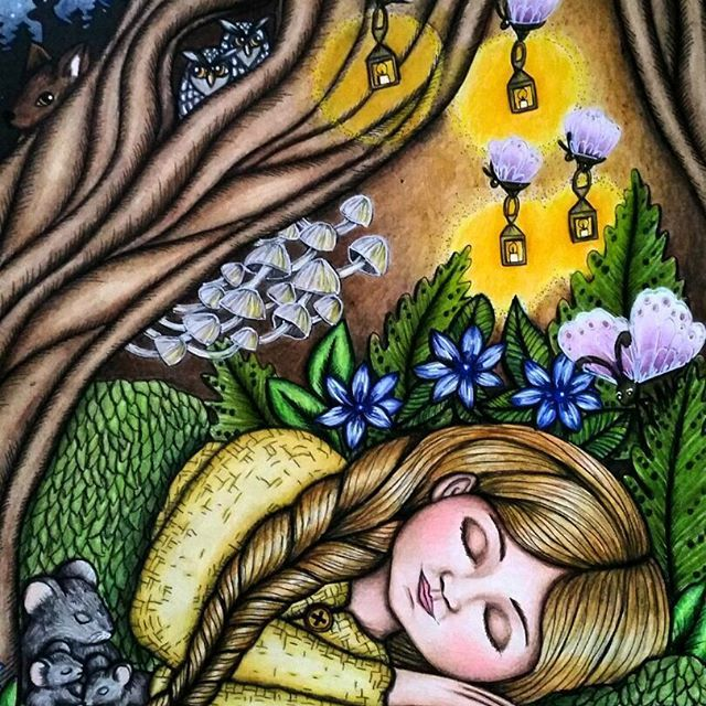 Sleeping Vivi! #vivi #forest #mariatrolle #vivisökerenvän #blomstermandala #arttherapy #colorindolivrostop #coloring_masterpieces #divasdasartes #nossa_vida_colorida #coloringmasterpiece #desenhoscolorir #coloring_secrets #coloringsecrets #artecomoterapia #fabercastellpolychromos #prismacolor #fabercastell #carandache #ellens #coloriagepouradultes #arte_e_colorir #colouredpencils #coloringforadults #docepapelatelier #coloringsecrets #bayan_boyan #docepapelatelier #majesticcoloring