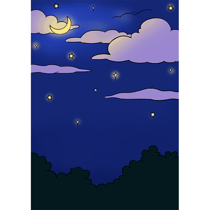 How To Draw A Night Sky Really Easy Drawing Tutorial Night Sky Drawing Easy Drawings Drawing Tutorial Easy