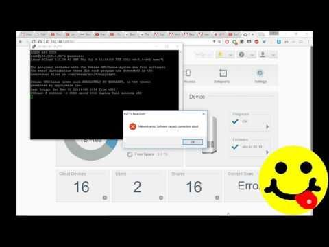 WD My Cloud won't connect SOLVED - 5268AC - How to SSH using Putty
