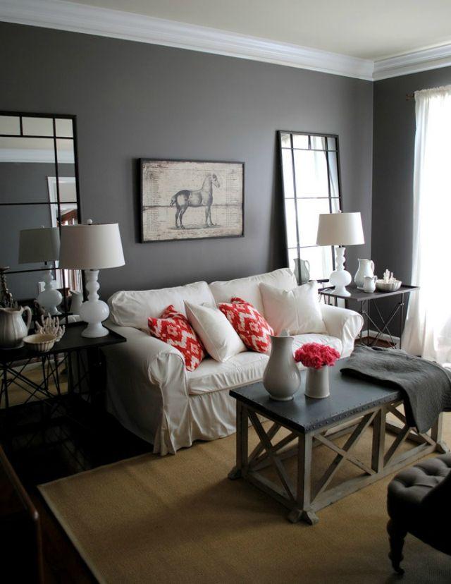 grey with a pop of color h o m e living room grey home decor rh pinterest com