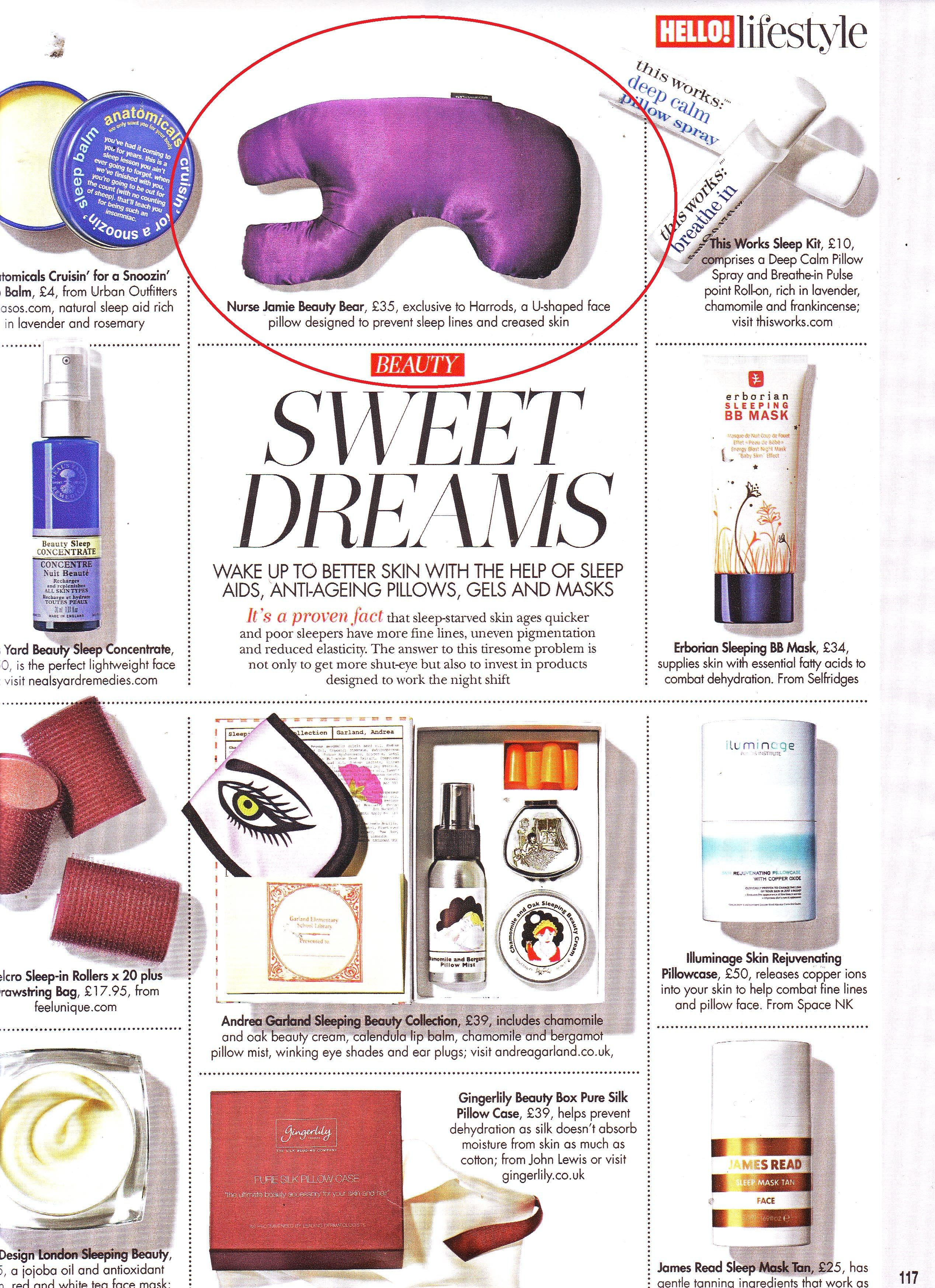 Have Sweet Dreams with my Beauty Bear Age Delay Pillow !!! Featured in HELLO