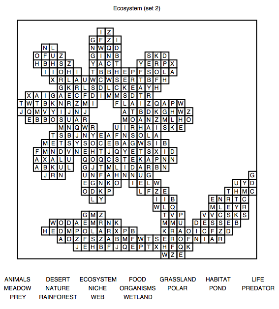 Printables Word Search For 6th Grade Ecosystems