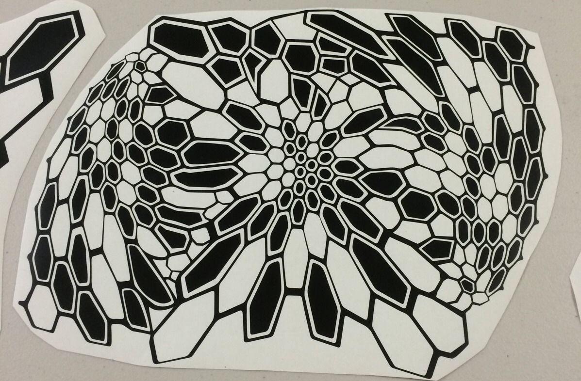 Kryptek camo pattern Stencil Diecut Sticker
