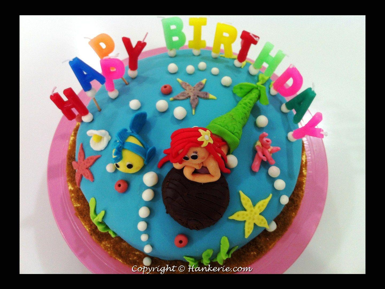 Ariel Cake Decorations Ariel Little Mermaid Fondant Cake Make Cake Decoration And Cake
