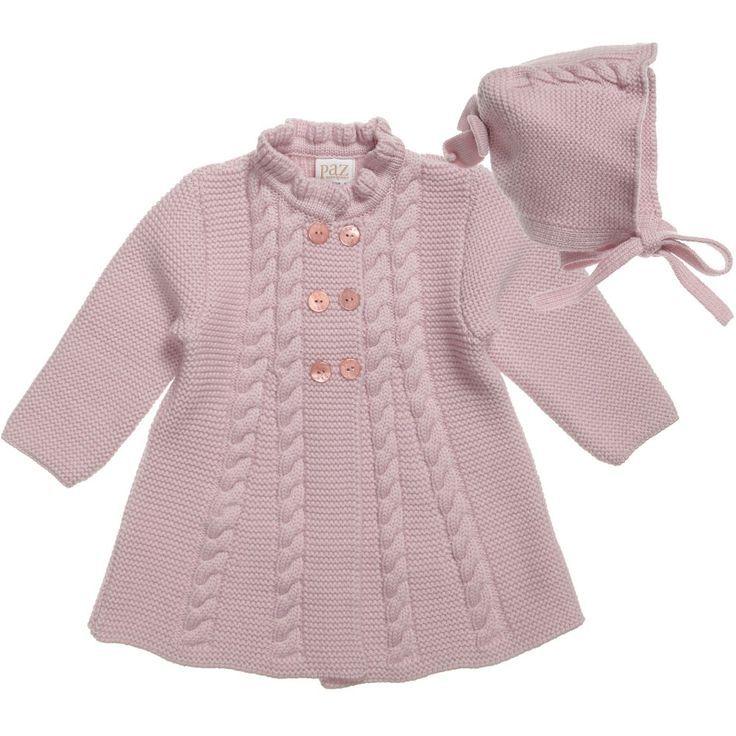 5cfa0be30 Paz Rodriguez Baby Girls Pink Pram Coat and Bonnet