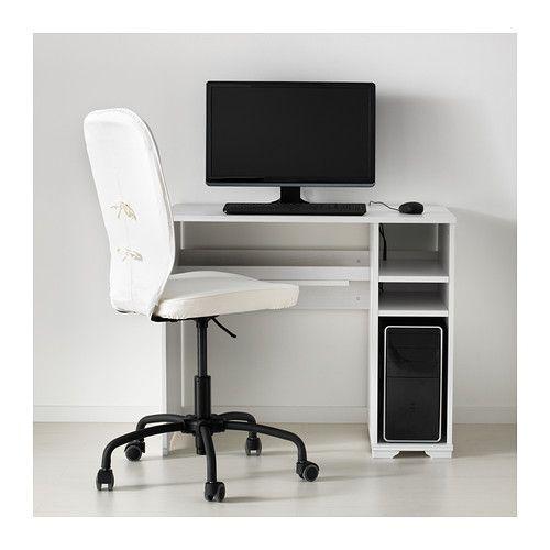 BORGSJÖ Työpöytä, valkoinen valkoinen 90x52 cm