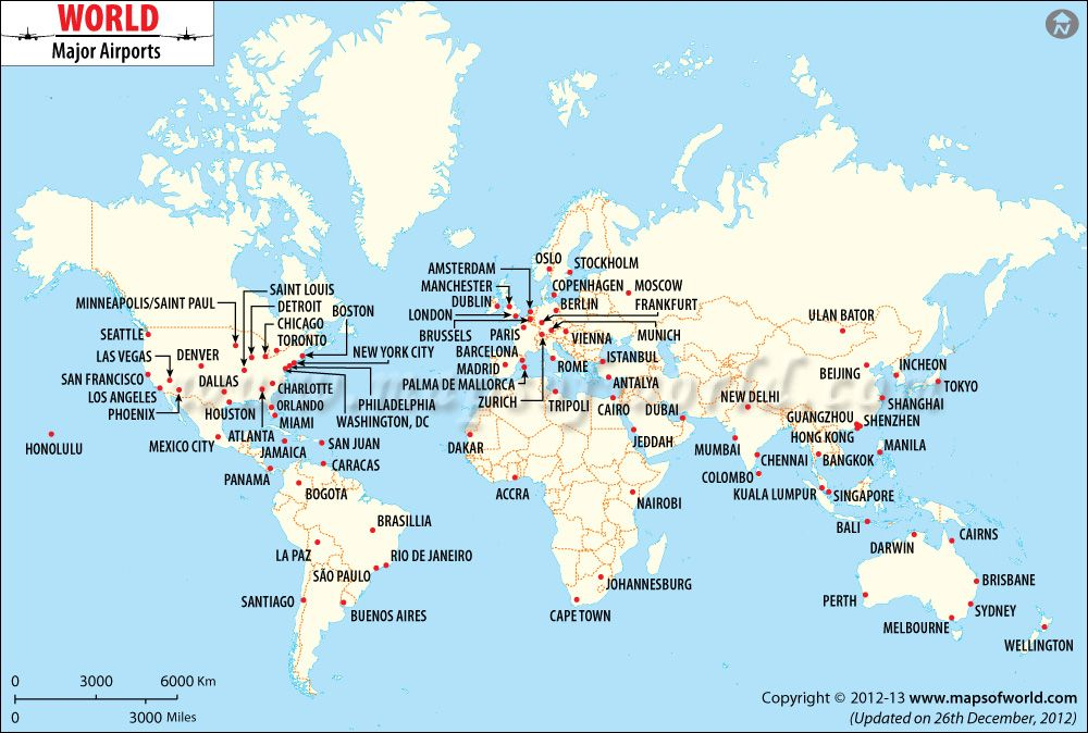 World International Airport Map Travel Pinterest - Major us airport hubs map