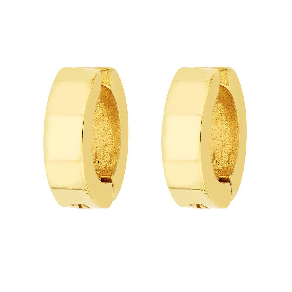 Non Pierced Gold Stainless Steel Plain Fashion Bali Round Studs