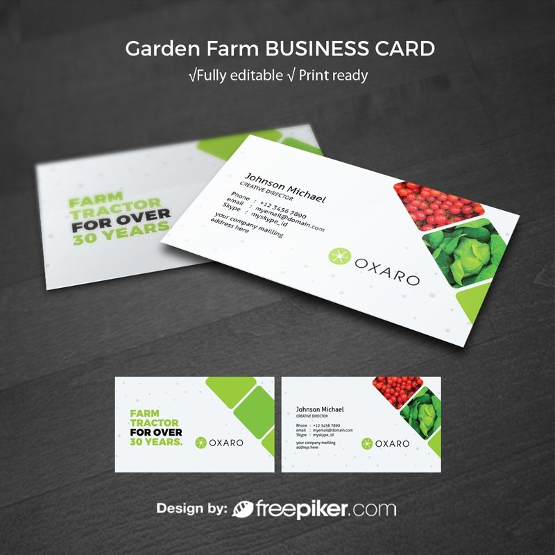 Garden Farm Agriculture Businesscard Template Free Business Card Templates Business Card Logo Design Business Card Templates Download
