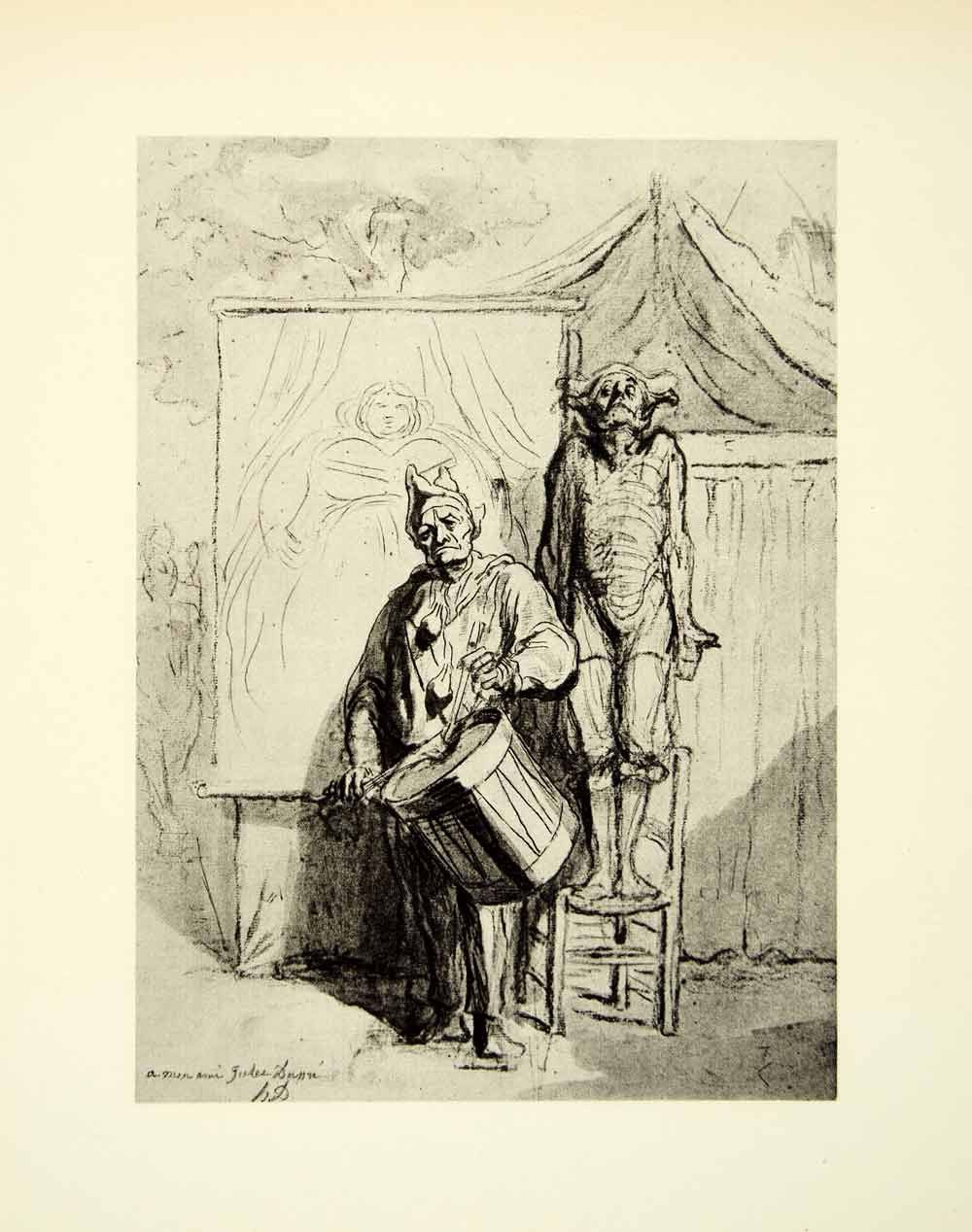 1938 Rotogravure Inder Pause Indians Break Honore Daumier Circus ...