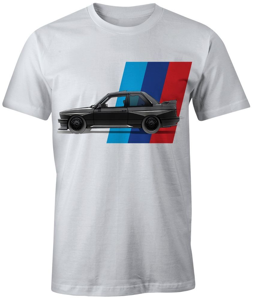 bca58fe5d NEW T-SHIRT BMW M POWER M3 E30 ON WHITE AND BLUE SHIRTS #Unbranded  #PersonalizedTee