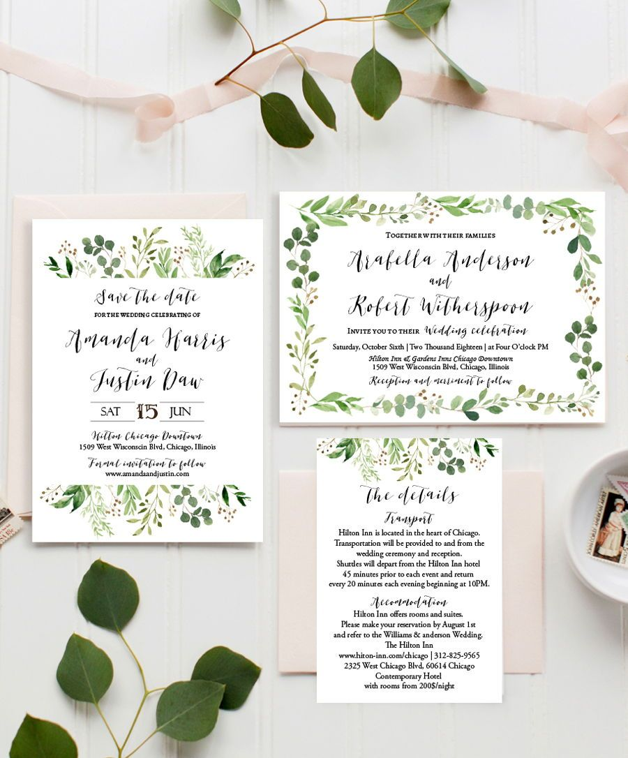 Chic Diy Cheap Greenery Wedding Invitation Inspirations Love The Olive Leaves Sprigs Greenerywedding Greeneryinvitations: Olive Leaf Wedding Invitation At Websimilar.org