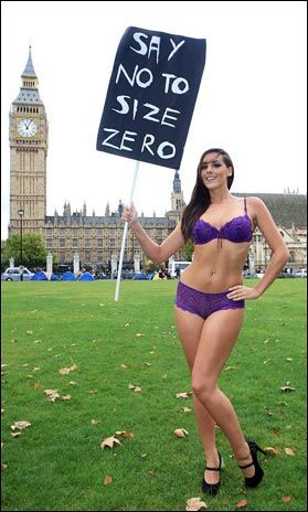 c4f00e86fb7 CURVY Katie Green shows off the body that crazy model agencies criticised  for being  too fat  as she launches a Say No to Size Zero campaign outside  ...
