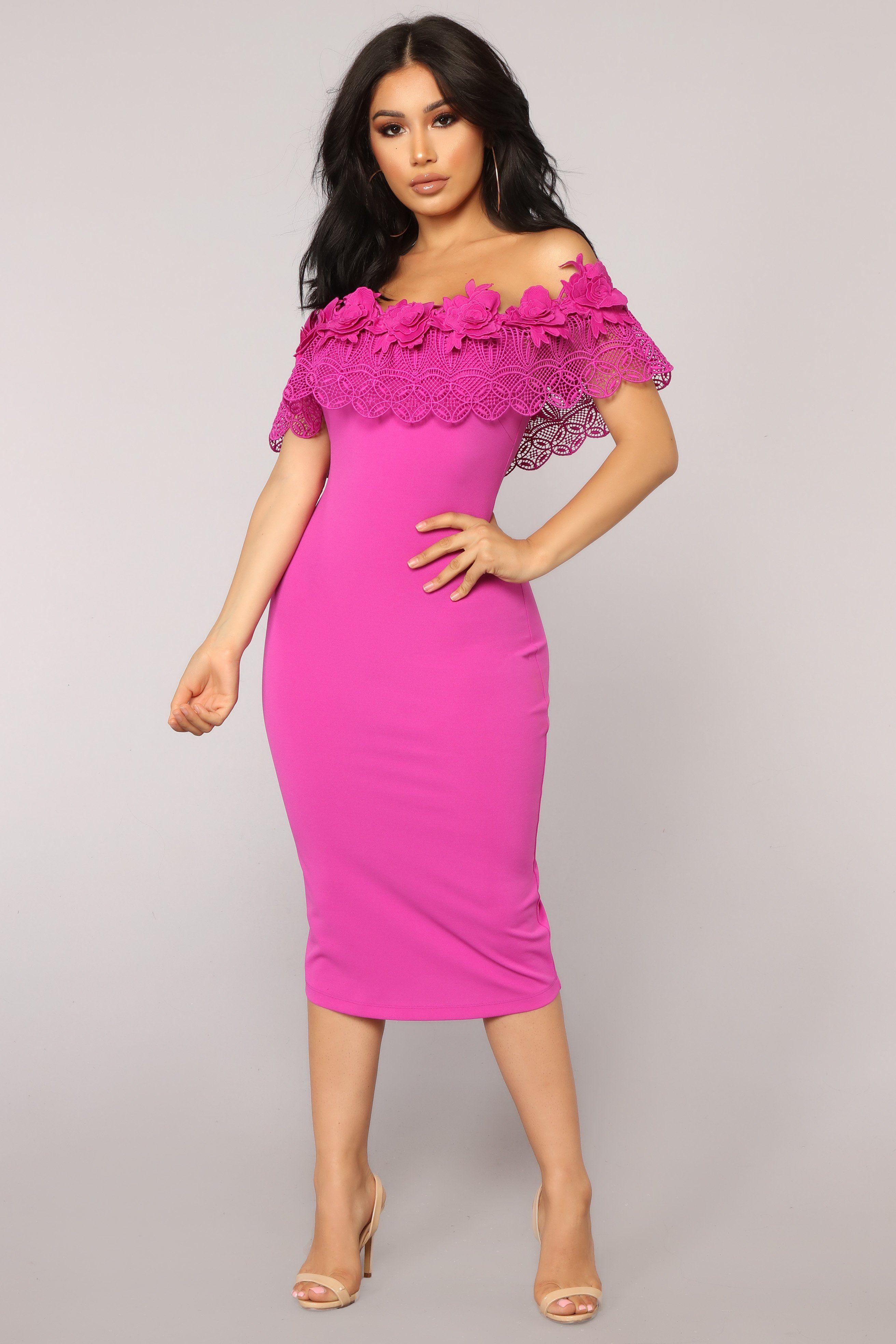 Off Shoulder Lace Detailed Party Dress in 2019  c7f143fb6827