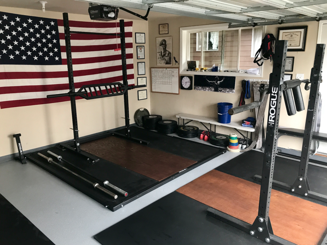 Every home gym needs a flag home gym inspiration home gym