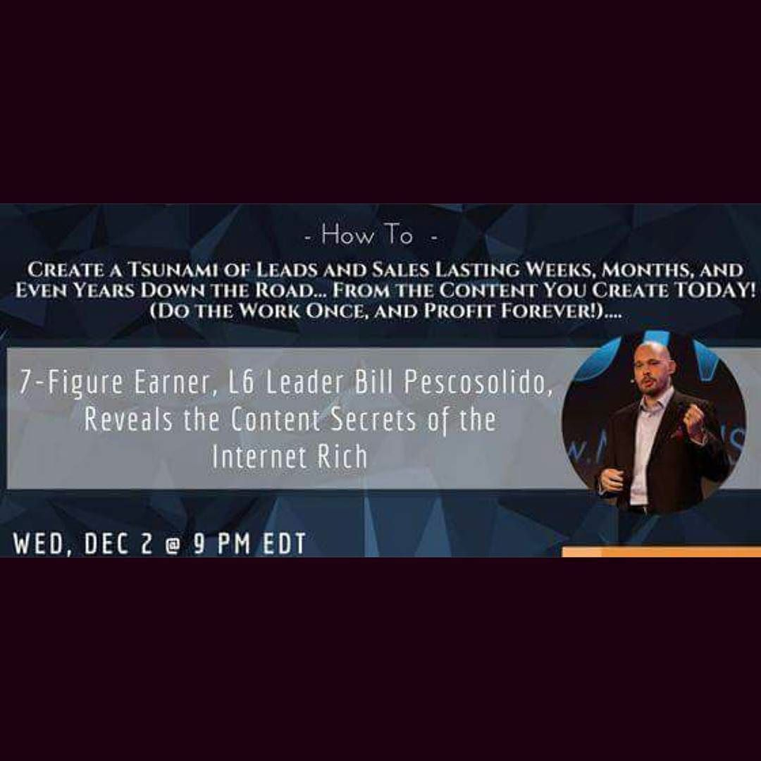 Register for tonight's free training webinar at 9PM EST http:// lisafraser.mlsp.com / webinar-registration Learn how to create endless flow of sales with your content that works for you day and night.