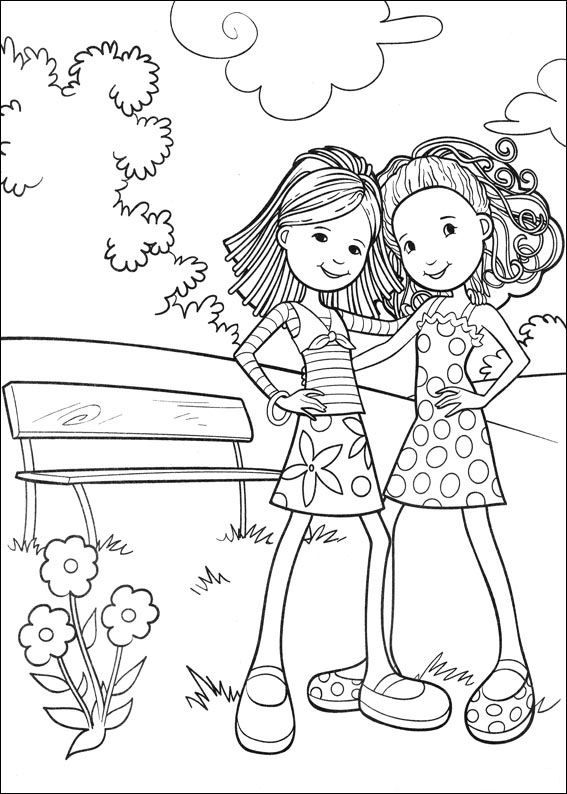 Groovy Girls Kids n Fun coloring page kleurplaat Dutch site with